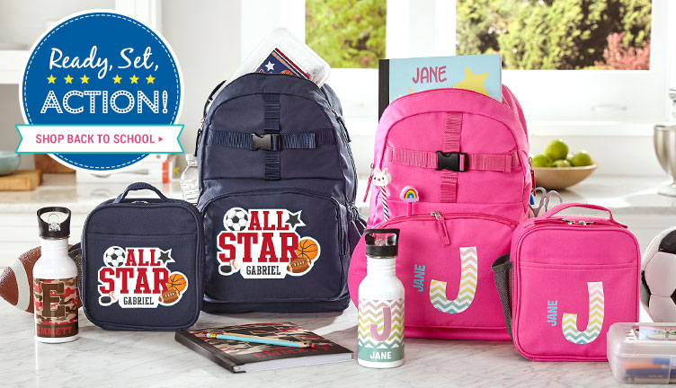 Assorted Personalized Kids Backpacks
