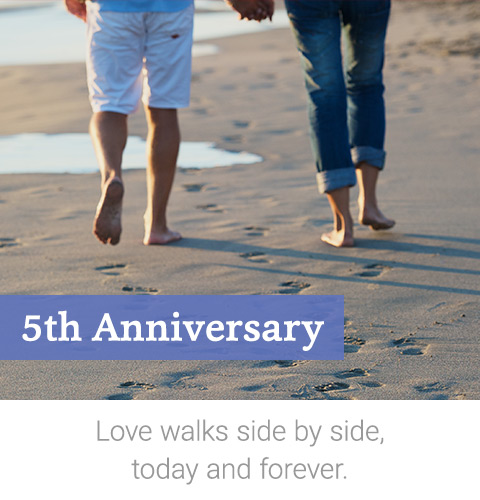 5th Anniversary Gifts | Personal Creations