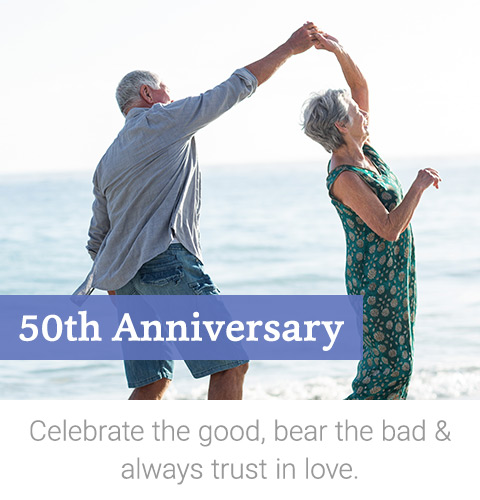 50th Anniversary Gifts For Golden Wedding Anniversaries